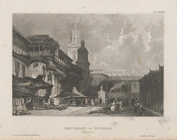 Stredoeurópsky grafik z 19. storočia - Trh vo Vittorii