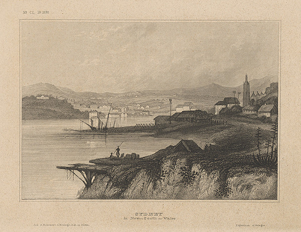 Stredoeurópsky grafik z 19. storočia - Sydney v New-South-Wales
