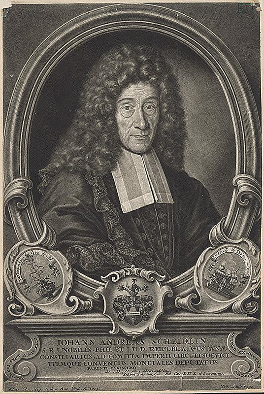 Elias Christoph Heiss, Tobias Laub – Portrét J.A. Scheidlina