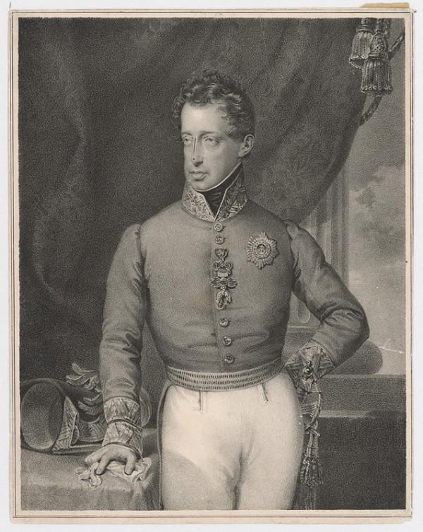 Stredoeurópsky grafik z polovice 19. storočia – Podobizeň cisára Františka I.