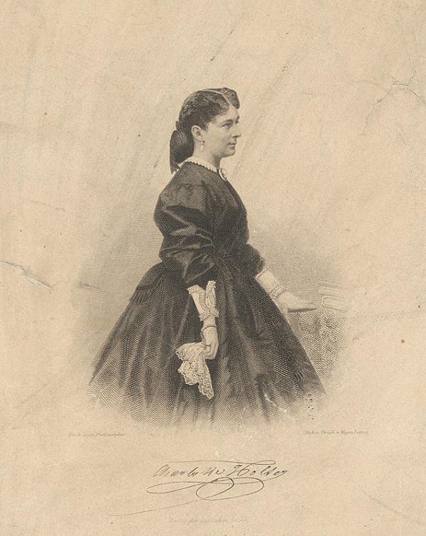 August Weger – Portrét Charlotte Holzerovej