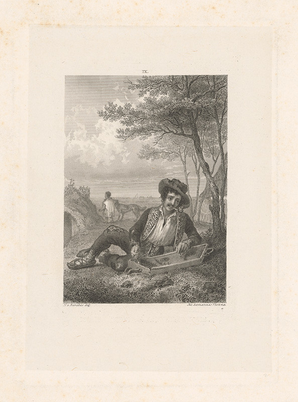 Josef Axmann, Miklós Barabás – Cigán s citarou