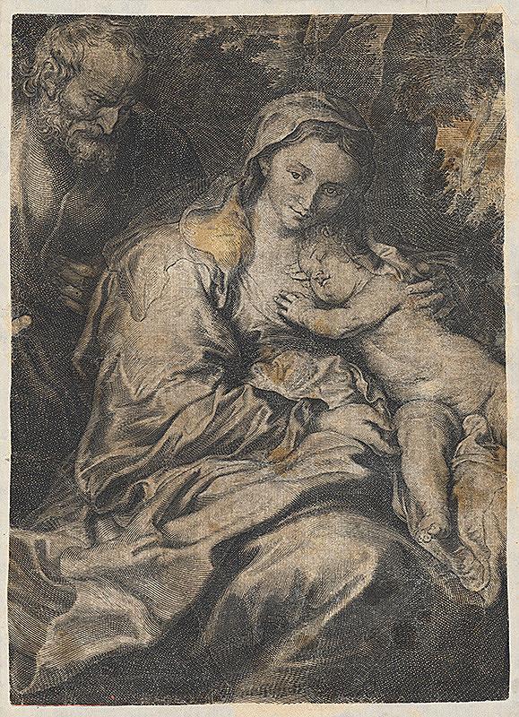 Taliansky grafik - Svätá rodina
