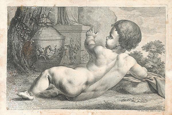 Johann Daniel Herz ml. - Putto-dieťa v záhrade