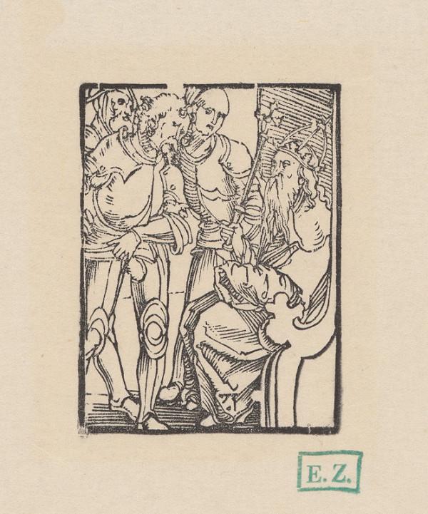 Hans Baldung - Traja ozbrojenci pred cisárom