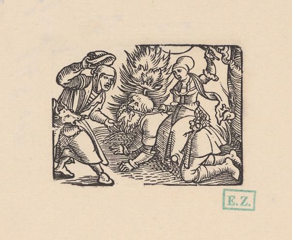 Erhard Schön – Aristoteles a Phyillis v spoločnosti žiaka a capa