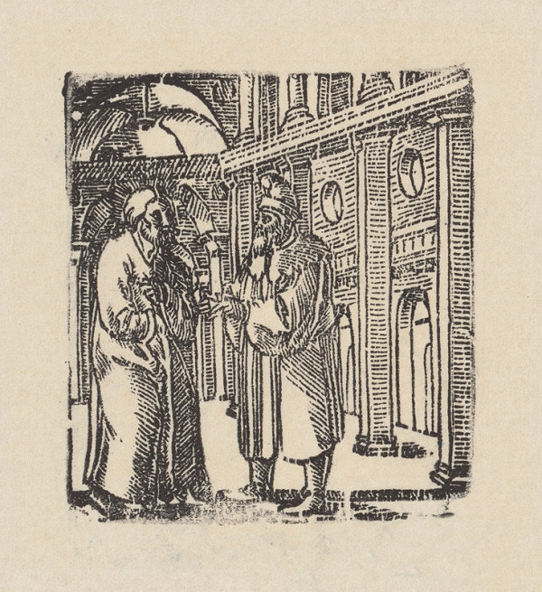 Grafik, Hans Springinklee, Erhard Schön – Kristus a Nikodém