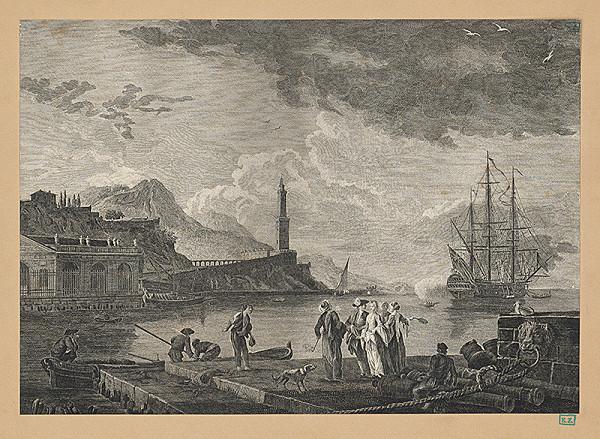 Monogramista J. V., Joseph Claude – Scéna v prístave