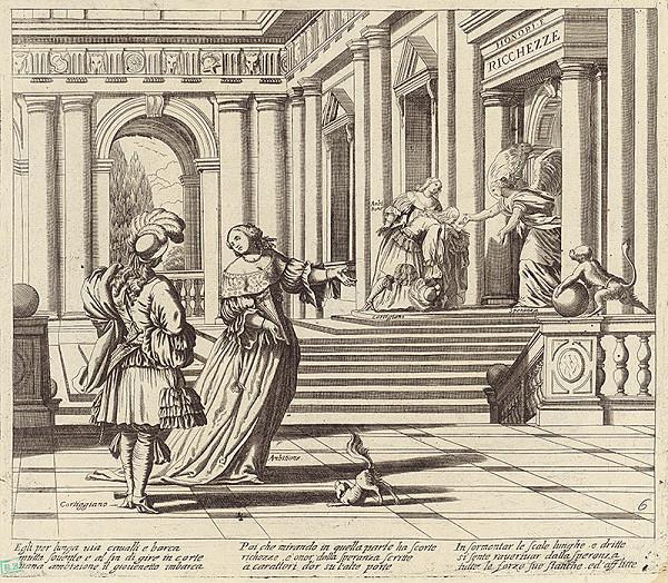 Taliansky grafik z 18. storočia – Alegorická scéna