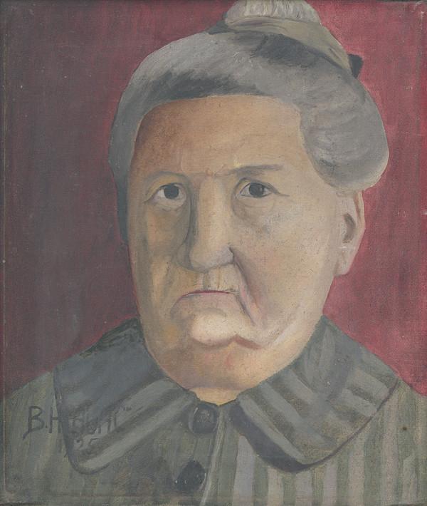 Bedřich Hlaváč - Portrét starej ženy
