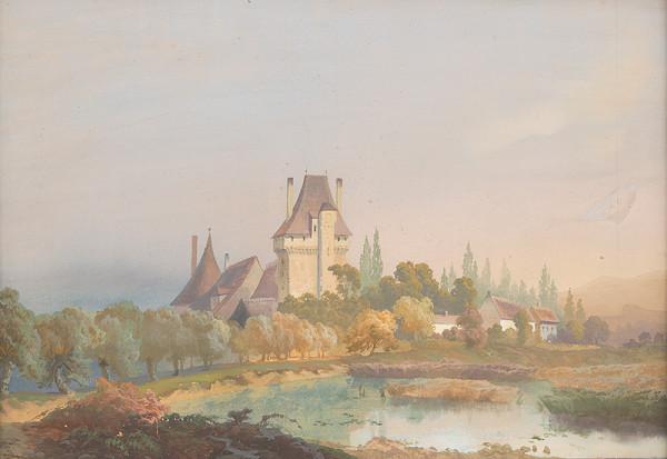 Karol Marko st. – Krajina so zámkom nad jazerom
