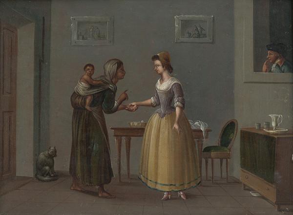 Neznámy maliar, Daniel Nikolaus Chodowiecki – Veštenie z dlane