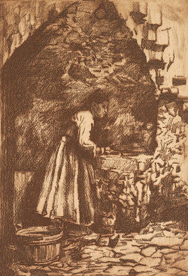 Viktor Hermély – Dievča pri studni