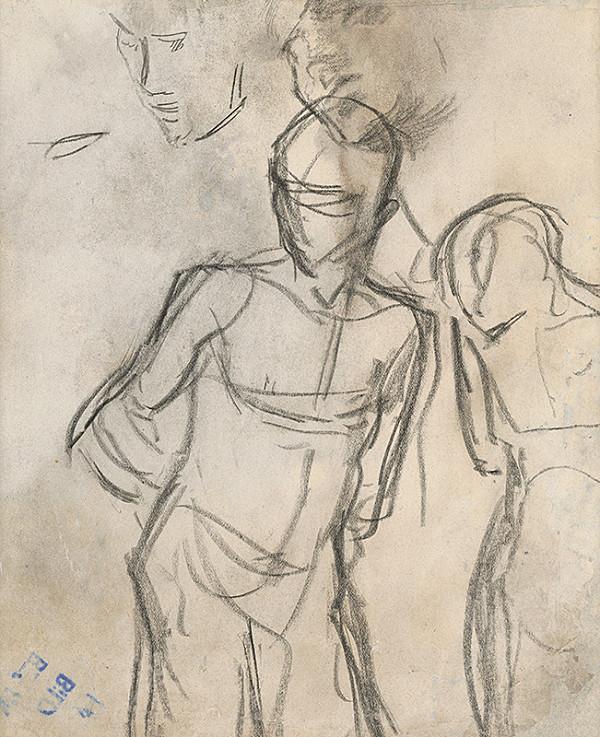 Ladislav Mednyánszky – Štúdia mužskej postavy s rukami za chrbtom