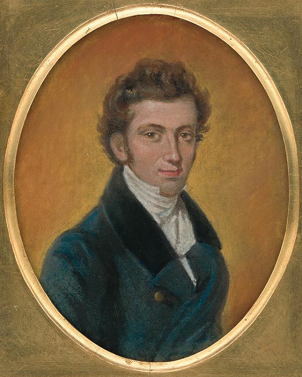 Slovenský maliar z 1. polovice 19. storočia – Portrét mladého muža
