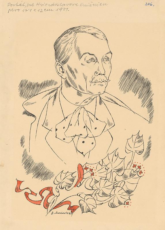 Emil Makovický - Potrét Hviezdoslava