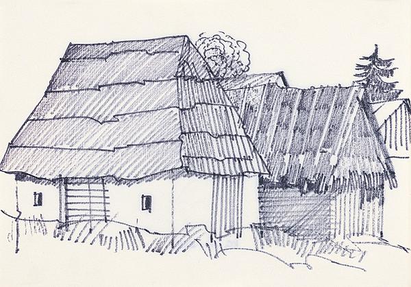 František Hübel – Štúdia drevenice XI.