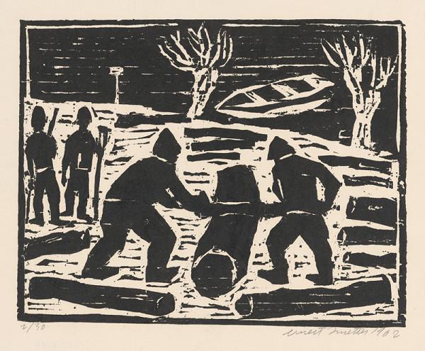 Ernest Zmeták – Pílenie dreva
