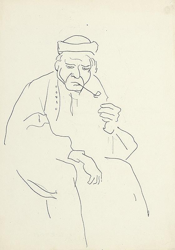 Jaroslav Kubička - Starec s fajkou