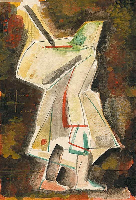 Vladimír Kompánek - Žena s batohom