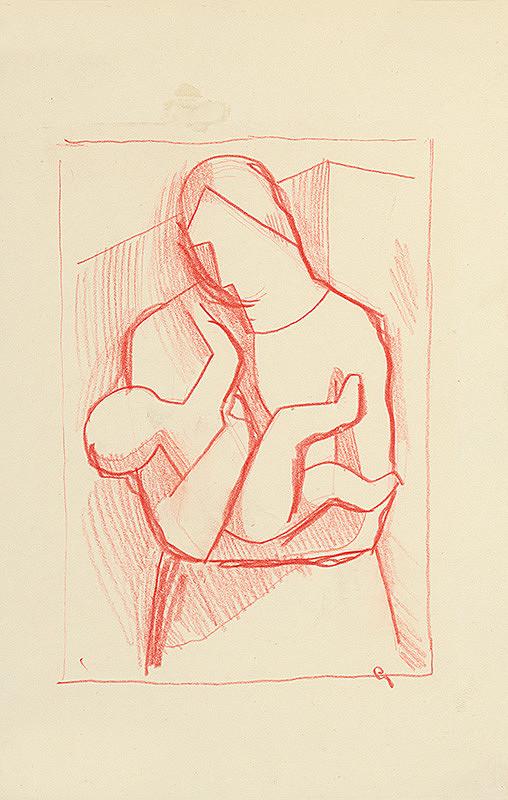 Mikuláš Galanda - Matka s dieťaťom v náručí
