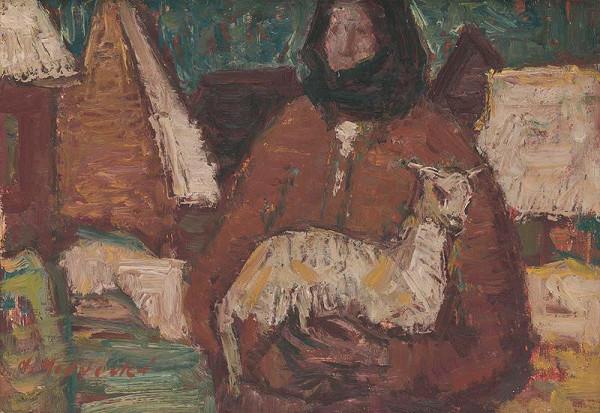 Mária Medvecká – Žena s kozľaťom