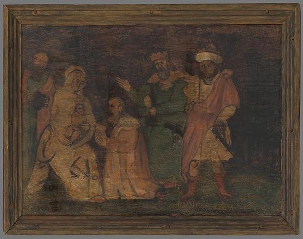 Neznámy autor – Klaňanie troch kráľov