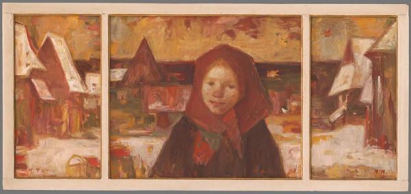 Mária Medvecká - Zima na Orave-triptych