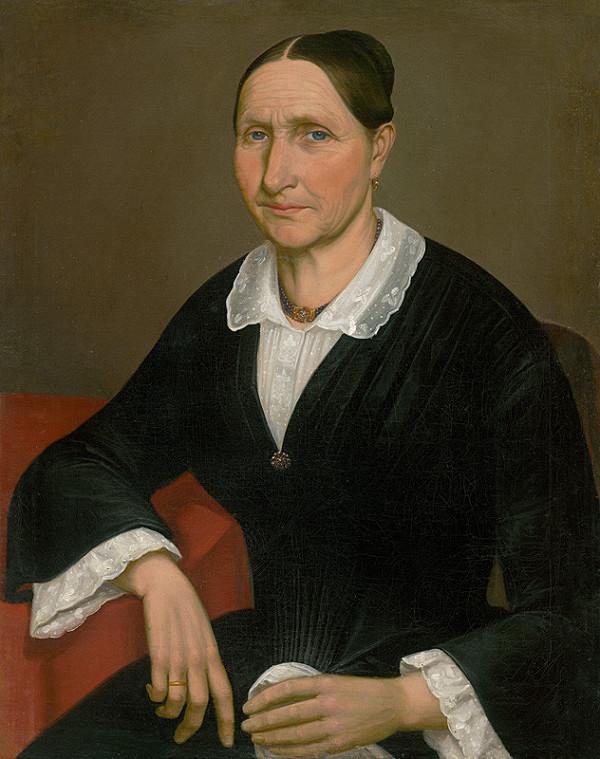 Peter Michal Bohúň - Portrét staršej dámy