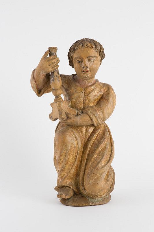 Slovenský rezbár z 18. storočia – Anjel so svietnikom