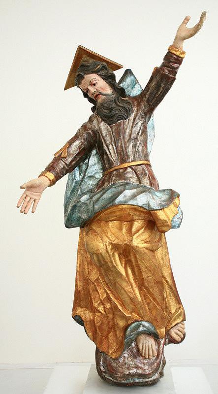 Slovenský rezbár z 2. polovice 18. storočia – Boh Otec zo skupiny sv. Trojice