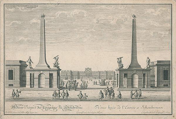 Christian Engelbrecht, Johann Andreas Pfeffel, Johann Bernhard Fischer von Erlach - Viedeň-Schönbrunn
