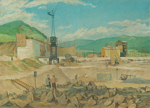 Fero Kráľ - Stavba prístavnej hrádze