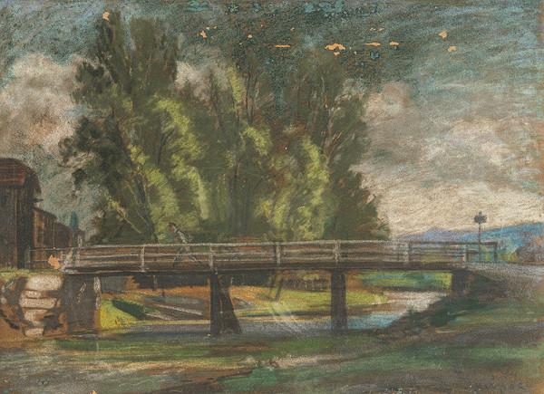 Viktor Krupec - Most v Závodí - Pohľad na Rajčianku pri Žiline