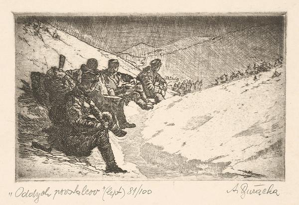 Anton Djuračka – Oddych povstalcov