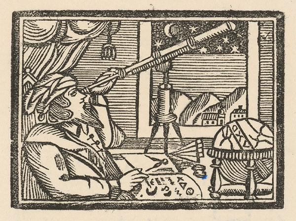 Moravský grafik zo začiatku 19. storočia - Muž s ďalekohľadom