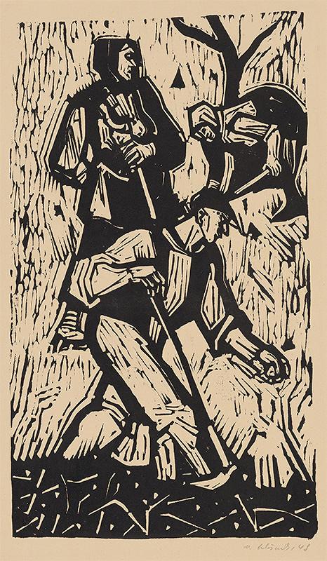 Vincent Hložník – Vykopávanie zemiakov