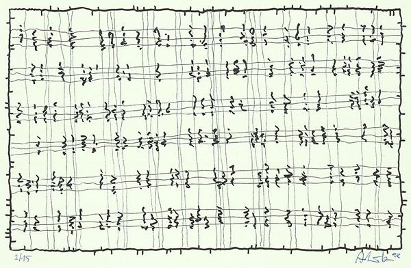 Milan Adamčiak – Grafický list z cyklu Partitúry