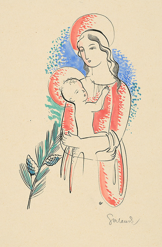 Mikuláš Galanda – Madona s vetvičkou