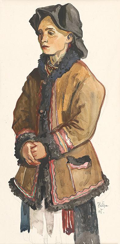 Jaroslav Vodrážka – Heľpa - Žena v kožuchu