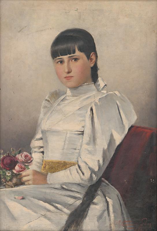 Ľudovít Kubányi - Portrét dievčaťa