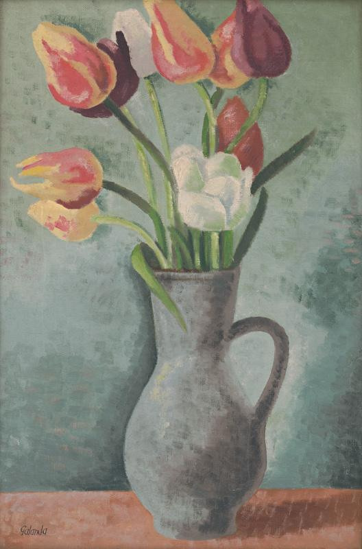 Mikuláš Galanda - Tulipány v džbáne