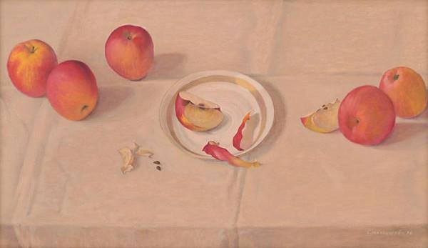 Emil Makovický - Zátišie s jabĺčkami I.