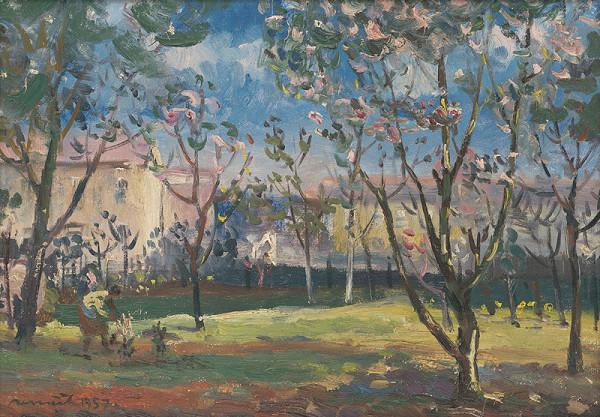 Július Nemčík - Jar v záhrade