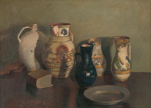 Dalma Kakuszová – Zátišie s keramikou