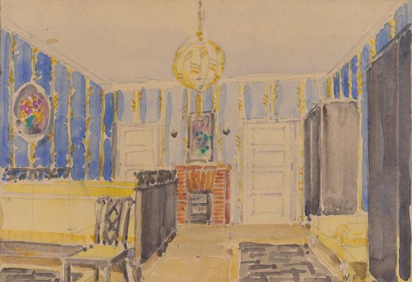 Franz Wimmer – Návrhy interiérov. Spálňa.