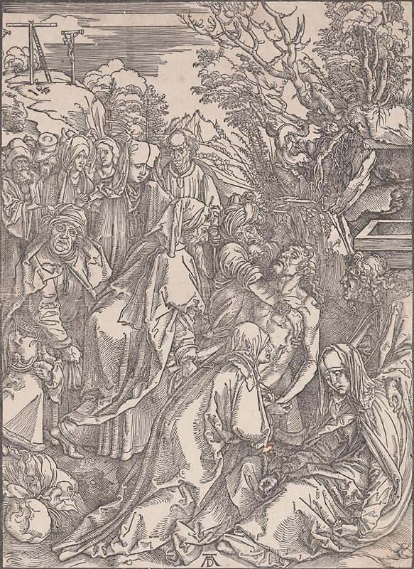 Albrecht Dürer – Kladenie Krista do hrobu