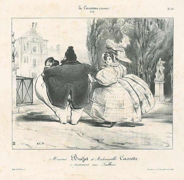 Francúzsky karikaturista z 30. rokov 19. storočia – Pán Rozpočet a slečna kasička