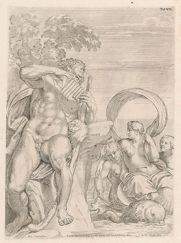 Carlo Cesio, Annibale Carracci - Polyphemus a Galatea,Tab.VII.