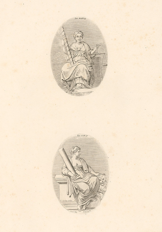 Carlo Cesio, Annibale Carracci – Spravodlivosť.Sila.Tab.XXX.3.,4.